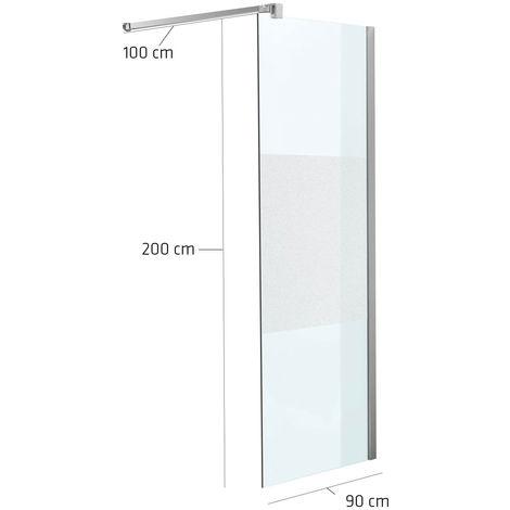 Paroi de douche carré en verre