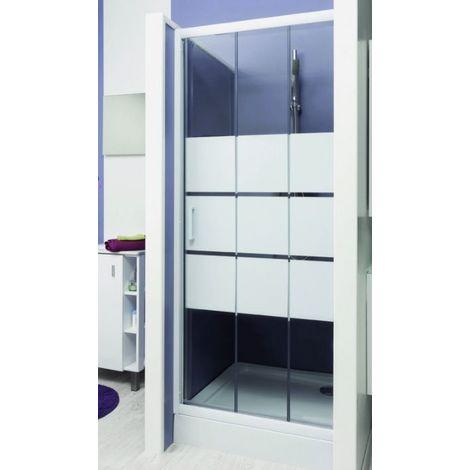Porte de douche coulissante 90 cm prix mini Porte de douche coulissante arrondie