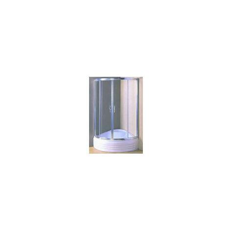 Paroi de douche d'angle NORWAY 90x195 cm - vert