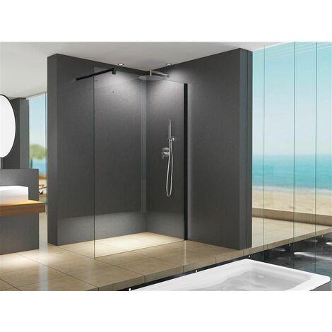Paroi de douche design LILY verre clair 110 x 200 cm/10 mm ESG verre de sécurité