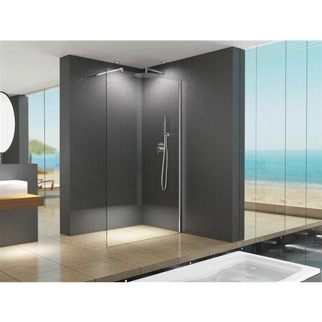 Paroi de douche design LILY verre clair 130 x 200 cm/10 mm ESG verre de sécurité