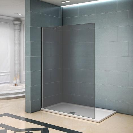 Paroi de douche en verre fumé avec les différents tailles