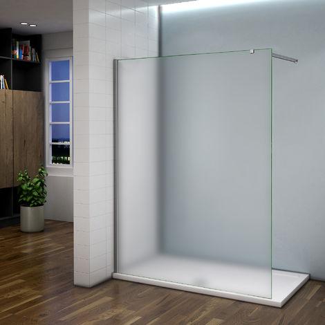 Paroi de douche en verre sablé avec les différents tailles