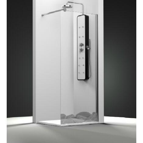 Paroi de douche fixe 1 panneau - Décor Galets Zen   de 16 à 50 cm