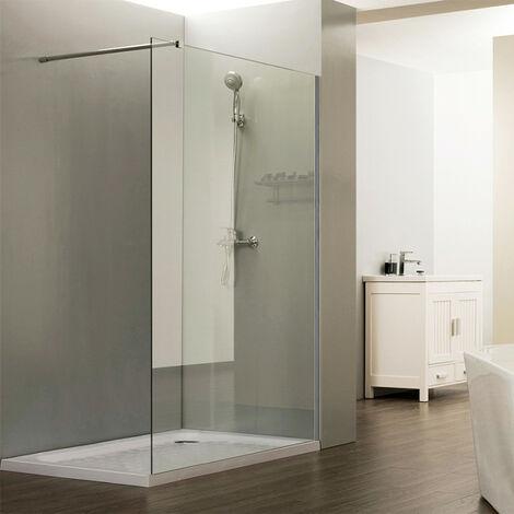 Paroi de douche fixe CALYPSO verre 8 mm - 120x200 cm