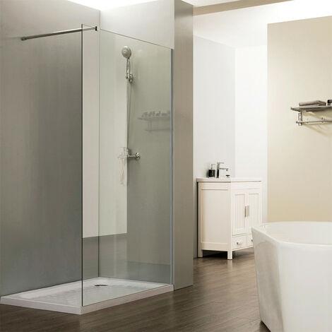 Paroi de douche fixe CALYPSO verre 8 mm - 80x200 cm