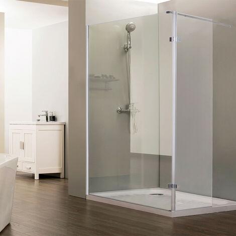 """main image of """"Paroi de douche fixe CALYPSO verre 8 mm avec retour - 120+40 x 200cm"""""""
