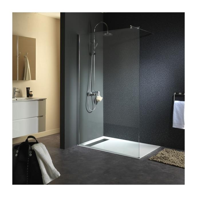 Paroi de douche fixe en verre 8mm 120x195cm - Volume d eau pour une douche ...