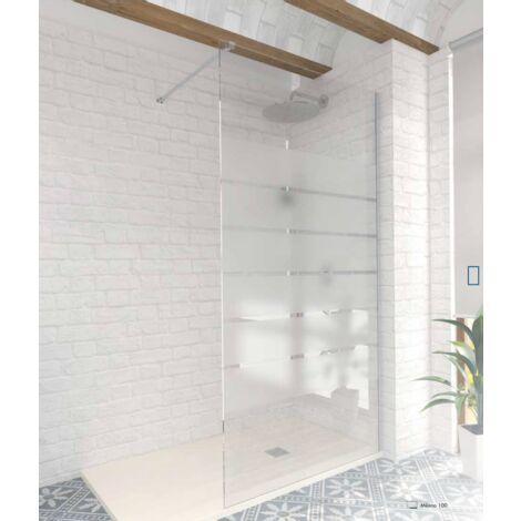 Paroi de douche fixe Milano - verre s�rigraphi� - 70 cm