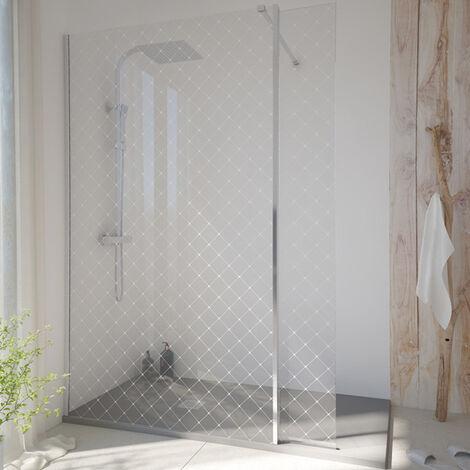Paroi de douche fixe SINGLE en verre 8 mm, verrière noire