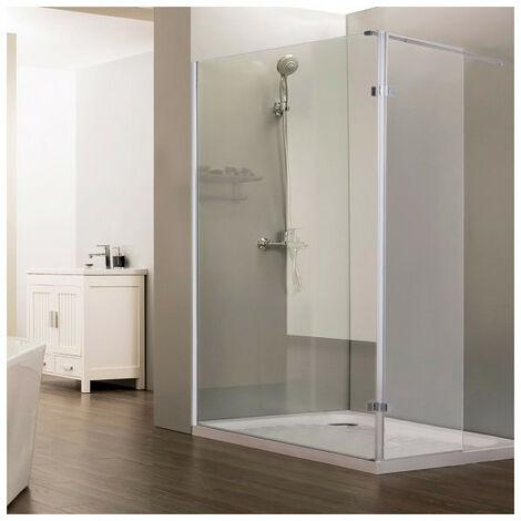 """main image of """"Paroi de douche fixe STURDY verre 10 mm avec retour - 120+40 x 200 cm"""""""