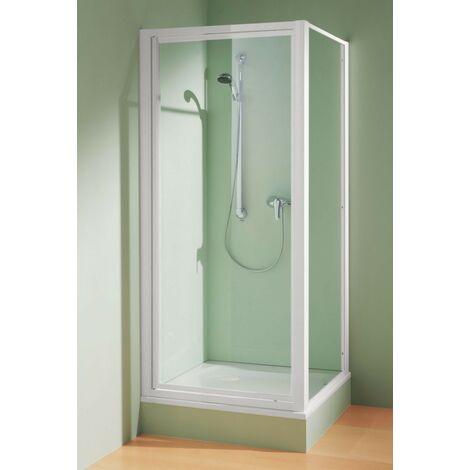 Paroi de douche fixe verre clair 5mm 1850X800mm montage seule ou avec porte profilé blanc CADA TWD 08018 2PK ROTHALUX 1404000135