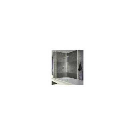 paroi de douche fixe verre transparent 110 cm open 2. Black Bedroom Furniture Sets. Home Design Ideas