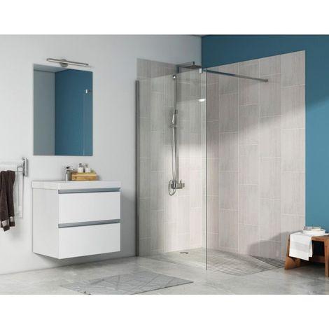 Paroi de douche fixe Walk-in Anti-calcaire - Modèle FIDJI - Plusieurs tailles disponibles