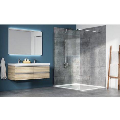 paroi de douche fixe walk in anti calcaire mod le oceane 200 cm x 100 cm hxl. Black Bedroom Furniture Sets. Home Design Ideas