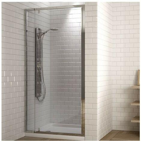 Paroi de douche frontale avec porte rabattable transparent