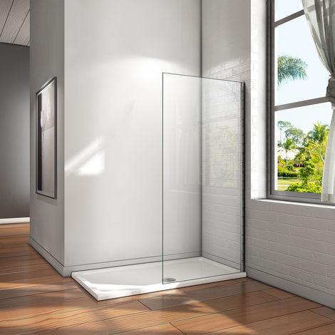 Paroi de douche les différents tailles en verre anticalcaire