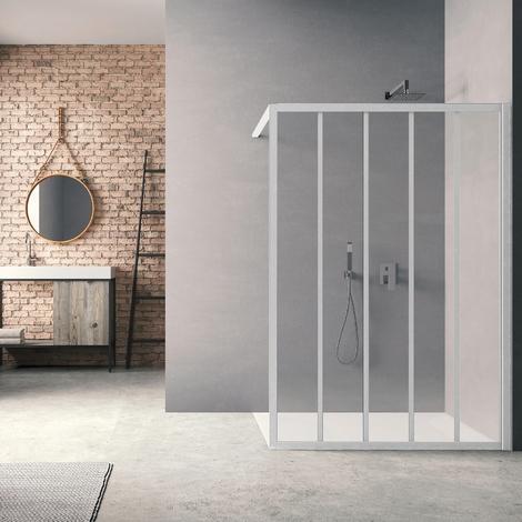 Paroi de douche Loft Classic H200 x L90 cm Laqué blanc / 2 barrettes