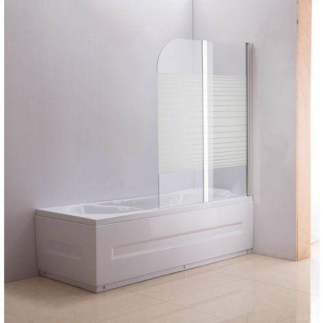 Paroi de douche Nano pour baignoire 2 portes gauches