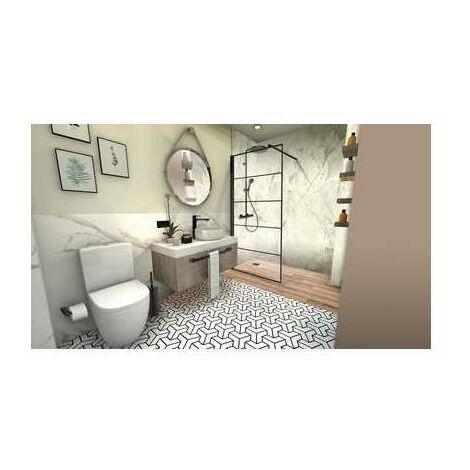Paroi de douche ouverte verrière Walk-in - 90 cm - Leda