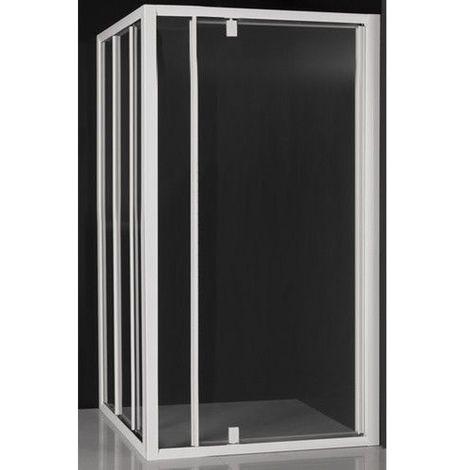 Paroi de douche 60x200cm en noire mat paroi /à litalienne en 8mm verre anticalcaire livr/é avec une barre de fixation extensible en noire mat