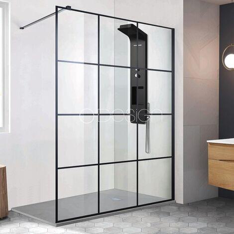 Paroi de douche style atelier fixe 1 panneau - CLUB 120 cm