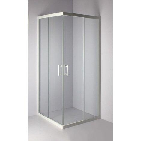 Paroi de douche Verseau 2, acces d'angle, porte coulissante 90 x 90 cm ALTERNA, Ref. LXC90W