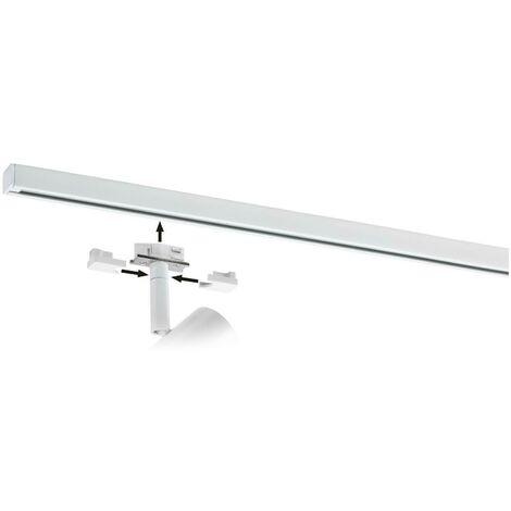 Paroi de nanorail de 2mt ou rail de plafond en métal blanc mat 949. 93