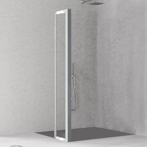 Paroi de retour pour paroi de douche Loft Argent - H200xL36 cm - KLOFTR36SCAB