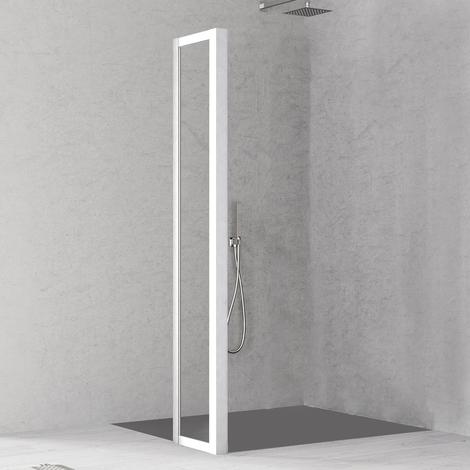 Paroi de retour pour paroi de douche Loft Laqué blanc - H200xL36 cm - KLOFTR36SCL