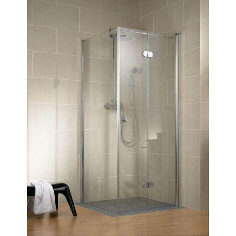 Paroi de retour pour porte de douche pivotante-pliante, verre 6 mm, profilé en aspect chromé, Garant, Schulte, 80 x 200 cm
