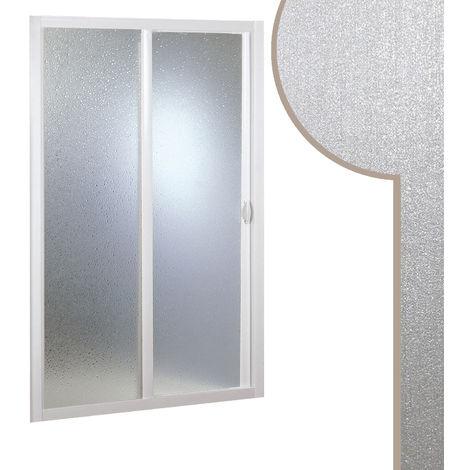 """main image of """"Porte paroi de douche coulissante ouverture latérale niche en acrylique"""""""