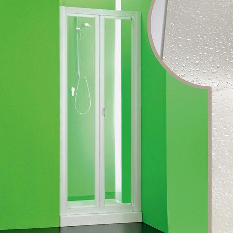 Paroi douche en acrylique mod. Saturno avec ouverture pliante
