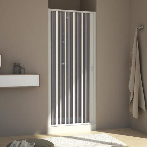 Paroi douche en Plastique pvc mod. Aura avec l'ouverture latérale