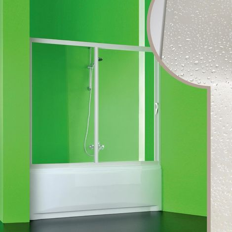 Paroi douche Pare-Baignoire en acrylique mod. Plutone avec ouverture laterale