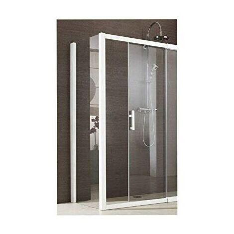 Paroi Jazz Plus Classique - Fixe - 970/1000 - Argent mat - Verre transparent
