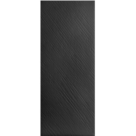 Paroi murale design - fond de douche en résine imitation pierre - 250 x 100 cm - noir
