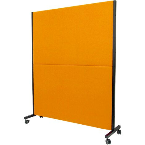 Paroi pliante Valdeganga bali orange avec roues avec freins