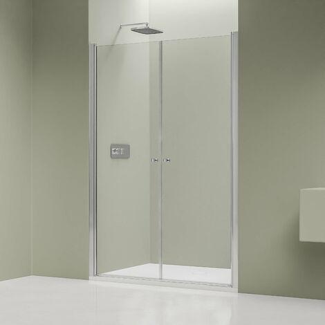 Paroi, porte de douche pour douche en niche EX218 en verre véritable NANO - largeur sélectionnable