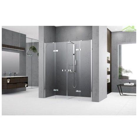 Parois de douche battantes 2 portes avec 2 fixes NOVELLINI GALA 2A