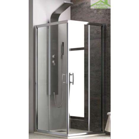 Parois de douche carrées NEW FLORA H 180cm - Avec modification