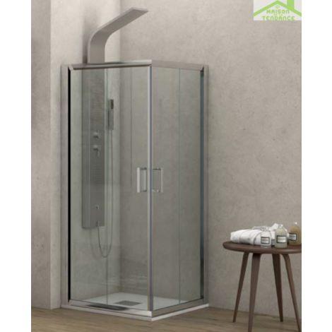 Parois de douche carrées universelles FLORA 100 H 190 cm - Sans le profilé d'extension