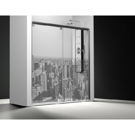 Parois de douche frontal 1 parois fixe + 1 coulissante - Manhattan   de 130 à 160 cm