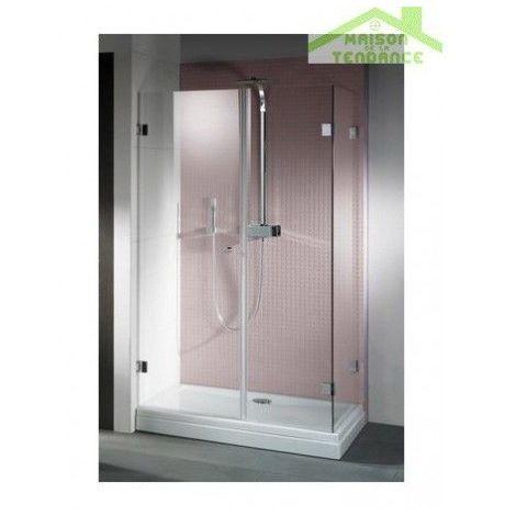 Parois de douche universelle RIHO SCANDIC MISTRAL M204 en verre clair