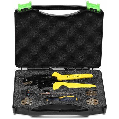 PARON Kit JX-D5 Crimping Pliers Crimping Lug Ratchet Ratchet Tool Cable stripper Multifunctional Terminals WASHED