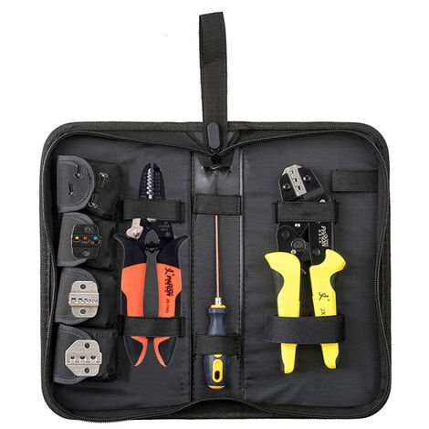 PARON Professional 4 In 1 Wire Crimper Engineering Ratcheting Terminal Crimping Pliers Bootlace Ferrule Crimper Tool Cord End Terminals