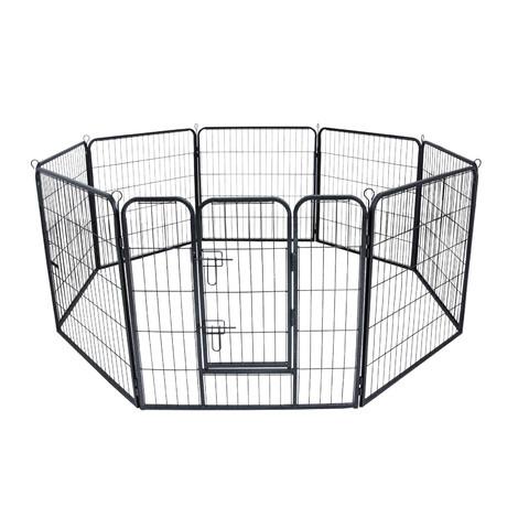 Parque cachorros perros metálico corralito mascotas valla conejera protección 210 x 100 cm