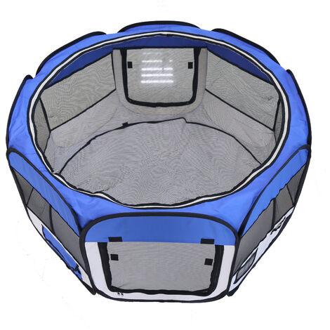 Parque de Juegos para Mascotas Valla para mascotas  Material: Poliéster recubierto de PVC-azul