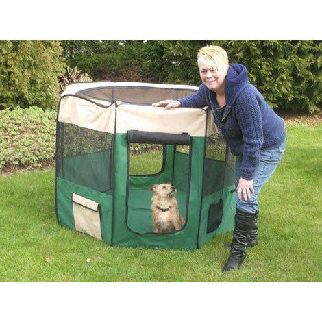 Parque de nailon para perros,roedores y animales pequeños h 100 cm