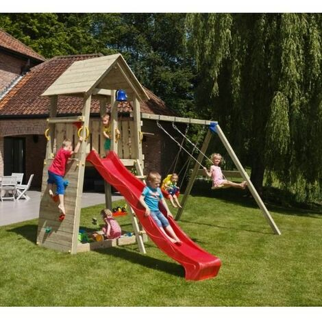 Parque Infantil Belvedere Xl Con Columpio Doble Masgames